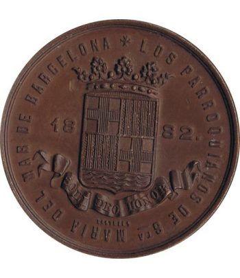 Medalla Barcelona Santa Maria del Mar 1882.  - 1