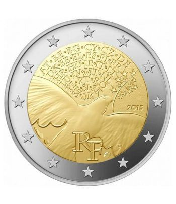 moneda conmemorativa 2 euros Francia 2015 Paz.  - 2