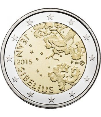 moneda conmemorativa 2 euros Finlandia 2015 Sibelius.  - 2