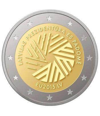 moneda conmemorativa 2 euros Letonia 2015 Consejo UE.  - 2