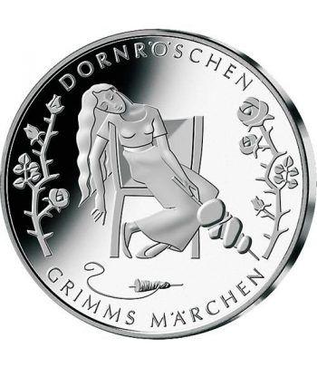 moneda Alemania 10 Euros 2015 D. La Bella Durmiente.  - 1
