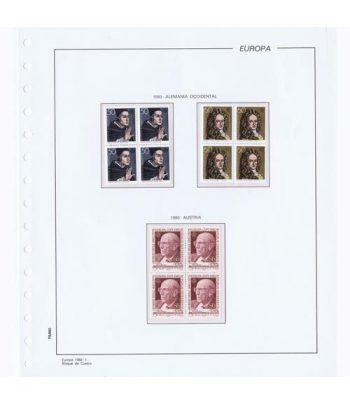 Colección Sellos de Tema Europa 1980 Bloque de 4.  - 1