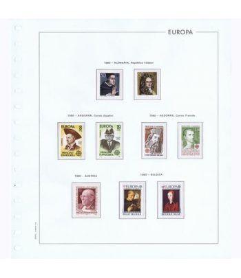 Colección Sellos de Tema Europa 1980.  - 1