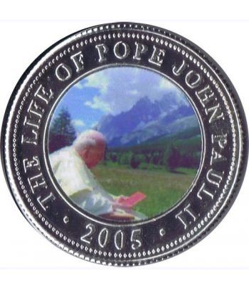 Republica Somalia 250 Shilling 2005. Papa Juan Pablo II. nº3  - 1