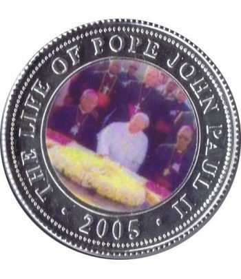 Republica Somalia 250 Shilling 2005. Papa Juan Pablo II. nº4  - 1