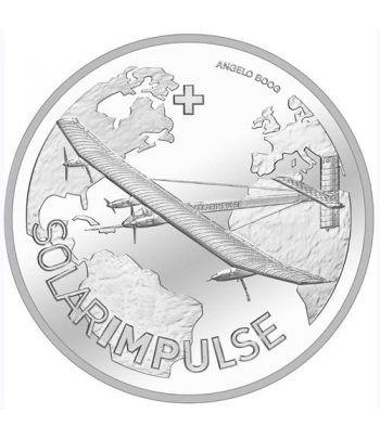 Moneda de plata 20 francos Suiza 2015 Solar Impulse.  - 1