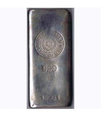 Lingote de plata pura. 500gr.  - 1