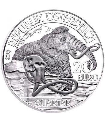moneda Austria 20 Euros 2015 Vida Prehistórica. Cuaternario.  - 1