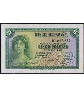 (1935) Banco de España. 5 Pesetas. MBC-  - 1