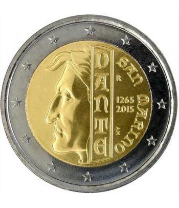 moneda conmemorativa 2 euros San Marino 2015. Dante.  - 1