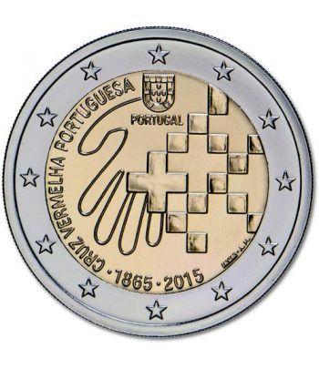 moneda conmemorativa 2 euros Portugal 2015 Cruz Roja.  - 2