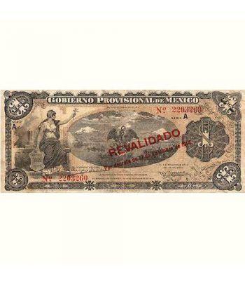 Mexico 1 Peso 1914 Revalidado por decreto. EBC  - 1