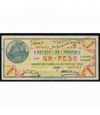 Oaxaca de Juarez 1 peso 26 mayo 1915. MBC.  - 1