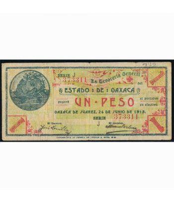 Oaxaca de Juarez 1 peso 26 junio 1915. MBC.  - 1