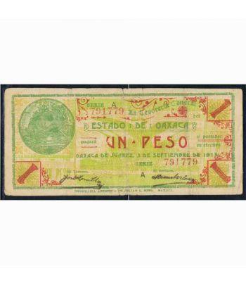 Oaxaca de Juarez 1 peso 3 septiembre 1915. MBC.  - 1