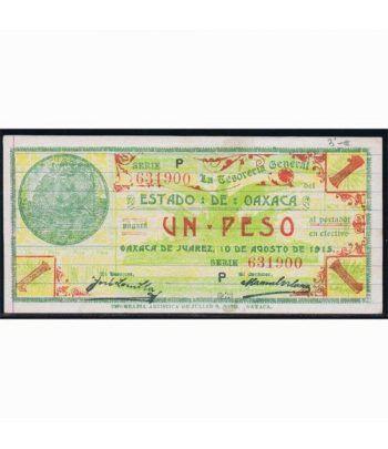 Oaxaca de Juarez 1 peso 10 agosto 1915. SC.  - 1