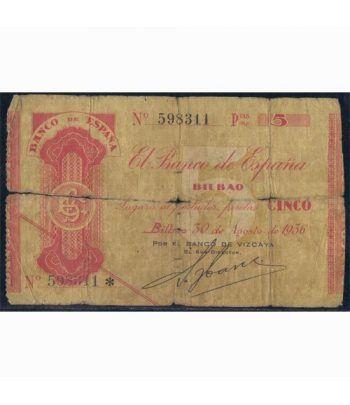 (1936) BILBAO. 5 Pesetas. Sin serie. BC.  - 1
