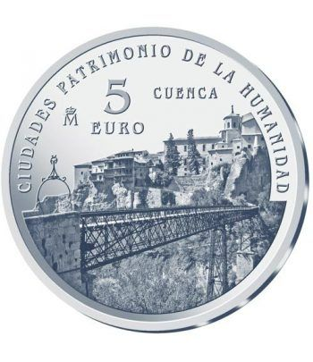 Moneda 2015 Patrimonio de la Humanidad. Cuenca. 5 euros.  - 1