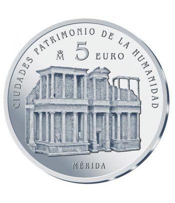 Moneda 2015 Patrimonio de la Humanidad. Merida. 5 euros.  - 1