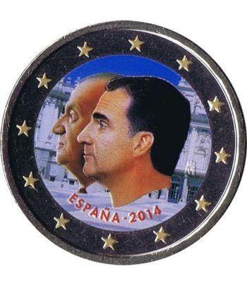 moneda conmemorativa 2 euros España 2014 Felipe VI. Color B  - 2