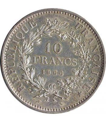 Moneda de plata 10 Francos Francia 1966.  - 1