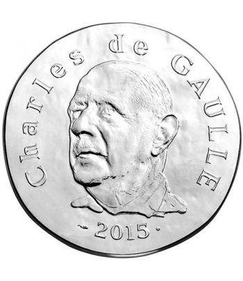 Francia 10€ 2015 Charles de Gaulle. Plata  - 1