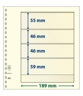 LINDNER Hojas clasificadoras T-Blanko 802404 Paquete de 10. Hojas Clasificadoras - 2