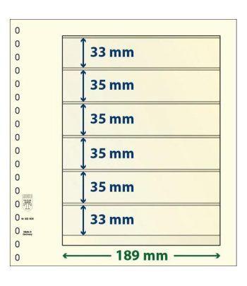 LINDNER Hojas clasificadoras T-Blanko 802606 Paquete de 10 Hojas Clasificadoras - 2