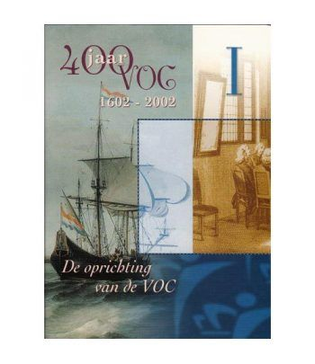 Cartera oficial euroset Holanda 2002 VOC I con medalla plata.  - 1
