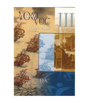 Cartera oficial euroset Holanda 2002 VOC III con medalla plata.  - 1