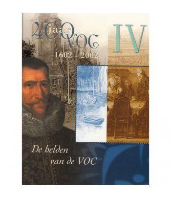 Cartera oficial euroset Holanda 2002 VOC IV con medalla plata.  - 1