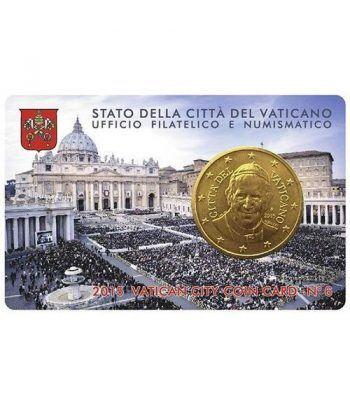 Cartera oficial euroset Vaticano 2015 (moneda 50cts.)  - 1