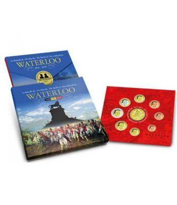 Cartera oficial euroset Belgica 2015 Waterloo.  - 1