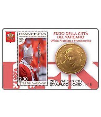 Cartera oficial euroset Vaticano 2015 (moneda 50cts.y sello 2.30  - 2