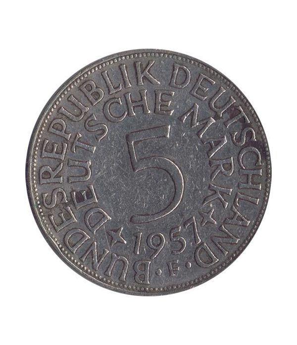 Moneda de Plata 5 Marcos Alemania 1957 F.  - 1