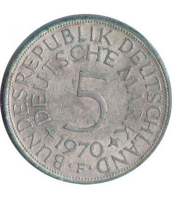 Moneda de Plata 5 Marcos Alemania 1970 F.  - 4
