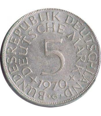 Moneda de Plata 5 Marcos Alemania 1970 G.  - 4