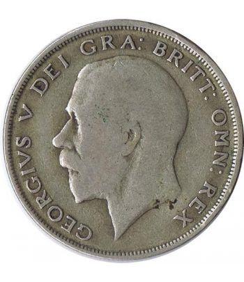 Half Crown de plata Inglaterra 1920. George V.  - 2