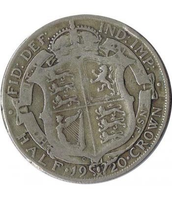 Moneda de plata Half Crown Inglaterra 1920. George V.  - 1