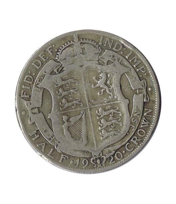 Half Crown de plata Inglaterra 1920. George V.  - 1