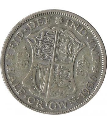 Moneda de plata Half Crown Inglaterra 1936. George V.  - 1
