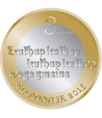 moneda Eslovenia 3 Euros 2015.  - 1