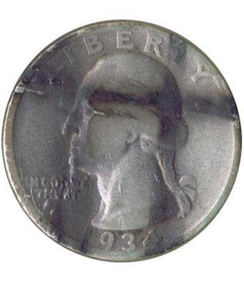 Moneda de plata 1/4 $ Estados Unidos 1934.  - 1