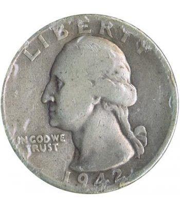 Moneda de plata 1/4 $ Estados Unidos 1942.  - 1