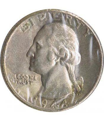Moneda de plata 1/4 $ Estados Unidos 1944.  - 4