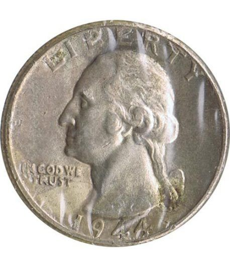 Moneda de plata 1/4 $ Estados Unidos 1944.  - 1