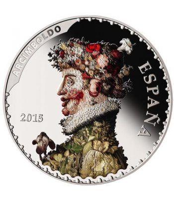 Moneda 2015 Tesoros Españoles. Arcimboldo. 50 euros. Plata.  - 1