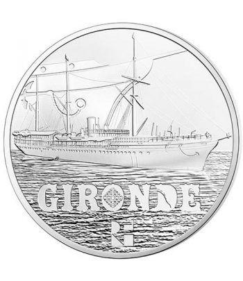 Francia 10€ 2015 Gironde. Barco. Plata.  - 1