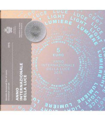 Cartera oficial euroset San Marino 2015 + 5€ (plata).  - 1