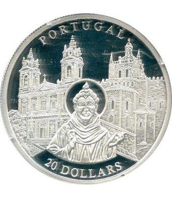 Moneda de plata 20$ Liberia 2001. Iglesia de Portugal.  - 4